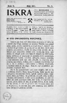 Iskra : miesięcznik poświęcony sprawom wstrzemięźliwości i wychowania narodowego. 1911, nr 5