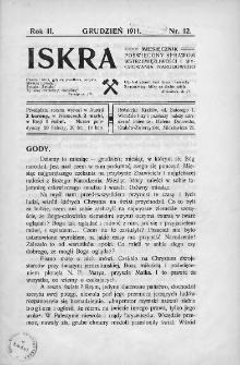 Iskra : miesięcznik poświęcony sprawom wstrzemięźliwości i wychowania narodowego. 1911, nr 12