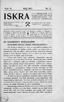 Iskra : miesięcznik poświęcony sprawom wstrzemięźliwości i wychowania narodowego. 1913, nr 5