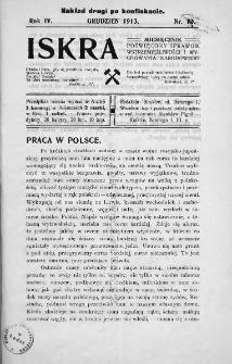 Iskra : miesięcznik poświęcony sprawom wstrzemięźliwości i wychowania narodowego. 1913, nr 12
