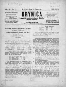 Krynica : dwutygodnik poświęcony ojczystym zakładom zdrojowo-kąpielowym. 1874, nr 3