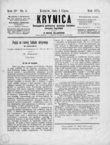 Krynica : dwutygodnik poświęcony ojczystym zakładom zdrojowo-kąpielowym. 1874, nr 4