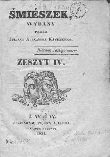 Śmiészek. 1834. Zeszyt IV