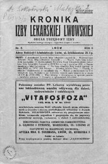 Kronika Izby Lekarskiej Lwowskiej : organ urzędowy Izby. 1931. Nr 6