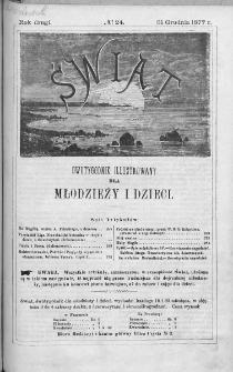 Świat : dwutygodnik illustrowany dla młodzieży i dzieci. 1877. Nr 24