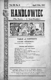 Handlowiec. 1937, nr 8