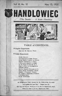 Handlowiec. 1937, nr 10