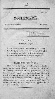 Smieszek : pismo peryodyczne poswięcone wesołości i zabawie. 1827, nr 12