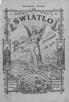 Światło : pismo ilustrowane dla ludu. Rok II. 1888, nr 8