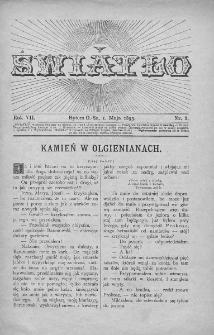 Światło : pismo ilustrowane dla ludu. Rok VII. 1893, nr 9