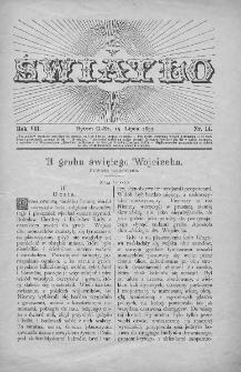 Światło : pismo ilustrowane dla ludu. Rok VII. 1893, nr 14