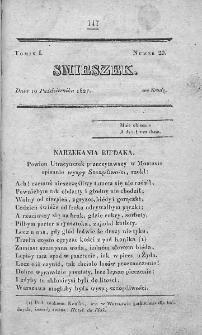 Smieszek : pismo peryodyczne poswięcone wesołości i zabawie. 1827, nr 29