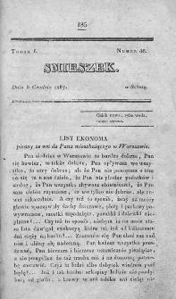 Smieszek : pismo peryodyczne poswięcone wesołości i zabawie. 1827, nr 46