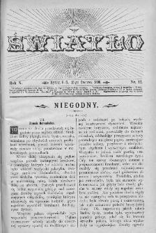 Światło : pismo ludowe ilustrowane. Rok X. 1896, nr 12