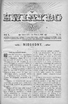 Światło : pismo ludowe ilustrowane. Rok X. 1896, nr 15