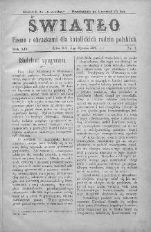 Światło : pismo z obrazkami dla katolickich rodzin polskich. Rok XIV. 1900, nr 2