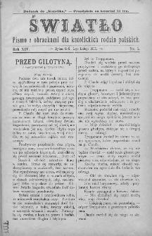 Światło : pismo z obrazkami dla katolickich rodzin polskich. Rok XIV. 1900, nr 5