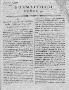 Rozmaitości : do numeru... Gazety Korrespondenta Warsz. 1818, nr 50