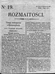 Rozmaitości : do numeru... Gazety Korrespondenta Warsz. 1820, nr 19