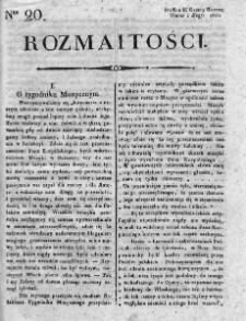 Rozmaitości : do numeru... Gazety Korrespondenta Warsz. 1820, nr 20
