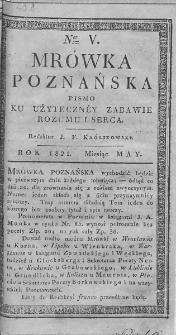Mrówka Poznańska : pismo ku użyteczney zabawie rozumu i serca. 1821. T.2. Nr 5