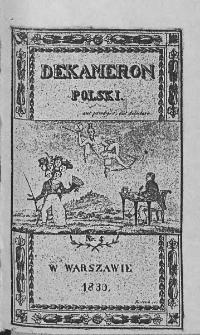 Dekameron Polski. 1830. T.1. Nr 4