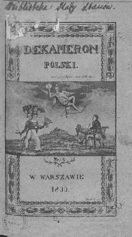Dekameron Polski. 1830. T.1. Nr 5