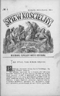 Śpiew Kościelny : miesięcznik poświęcony muzyce kościelnej. 1895/1896, nr 1
