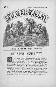 Śpiew Kościelny : miesięcznik poświęcony muzyce kościelnej. 1896, nr 2
