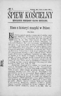 Śpiew Kościelny : miesięcznik poświęcony muzyce kościelnej. 1896, nr 3