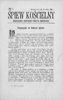 Śpiew Kościelny : miesięcznik poświęcony muzyce kościelnej. 1896, nr 5
