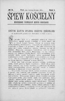 Śpiew Kościelny : miesięcznik poświęcony muzyce kościelnej. 1896, nr 6