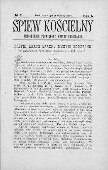 Śpiew Kościelny : miesięcznik poświęcony muzyce kościelnej. 1896, nr 7