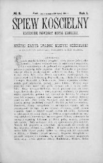 Śpiew Kościelny : miesięcznik poświęcony muzyce kościelnej. 1896, nr 8