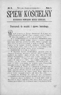 Śpiew Kościelny : miesięcznik poświęcony muzyce kościelnej. 1896, nr 9