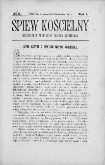 Śpiew Kościelny : miesięcznik poświęcony muzyce kościelnej. 1896, nr 11