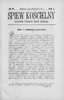 Śpiew Kościelny : miesięcznik poświęcony muzyce kościelnej. 1896, nr 12