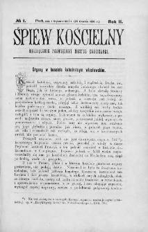 Śpiew Kościelny : miesięcznik poświęcony muzyce kościelnej. 1896/1897, nr 1
