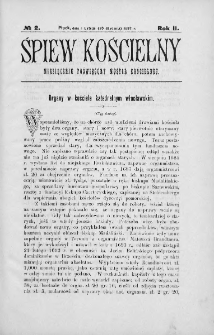 Śpiew Kościelny : miesięcznik poświęcony muzyce kościelnej. 1897, nr 2
