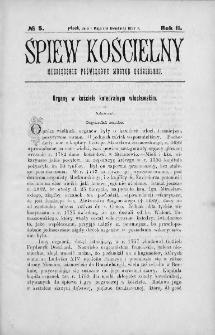 Śpiew Kościelny : miesięcznik poświęcony muzyce kościelnej. 1897, nr 5