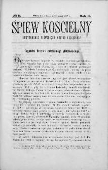 Śpiew Kościelny : miesięcznik poświęcony muzyce kościelnej. 1897, nr 8