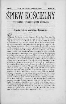 Śpiew Kościelny : miesięcznik poświęcony muzyce kościelnej. 1897, nr 9