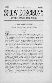Śpiew Kościelny : miesięcznik poświęcony muzyce kościelnej. 1897, nr 13