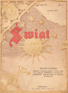 Świat : dwutygodnik illustrowany. 1889. R. II, nr 1