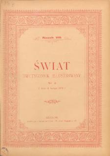 Świat : dwutygodnik illustrowany. 1895. R. VIII, nr 4