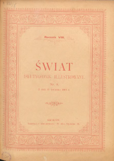 Świat : dwutygodnik illustrowany. 1895. R. VIII, nr 8