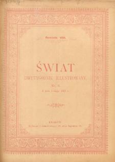 Świat : dwutygodnik illustrowany. 1895. R. VIII, nr 9