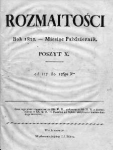 Rozmaitości 1822, nr 112