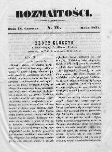 Rozmaitości 1854, nr 26