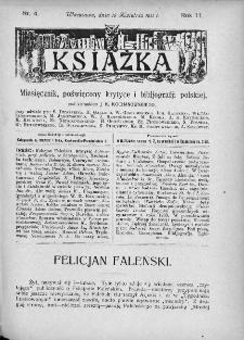 Książka : miesięcznik poświęcony krytyce i bibliografji polskiej. 1911. Nr 4
